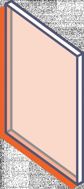 Farblose Plexiglas-Platten