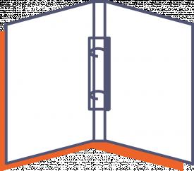 Ordner mit 2-facher Kombimechanik und Verschluss