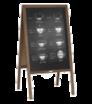Kundenstopper aus Holz mit Kreidetafel bedruckt