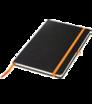 Notizbuch A5 mit schwarzem Hardcover mit Gummiband