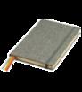 Notizbuch A5 mit Leinenumschlag mit Gummiband