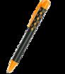 Kunststoff-Kugelschreiber Soft Touch mit farbigem Klipp