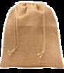 Jutebeutel mit Schnur - mittelgroß