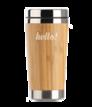 Thermobecher Bambus, Edelstahl 400 ml