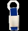 Schlüsselanhänger mit buntem Stoff und Metallplättchen