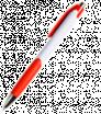 Kunststoff-Kugelschreiber mit farbigen Elementen