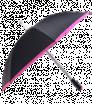 Automatik-Regenschirm schwarz mit bunter Borte